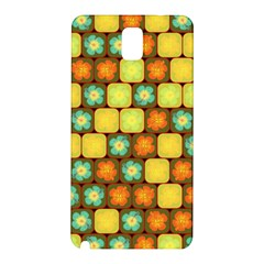 Random Hibiscus Pattern Samsung Galaxy Note 3 N9005 Hardshell Back Case by linceazul