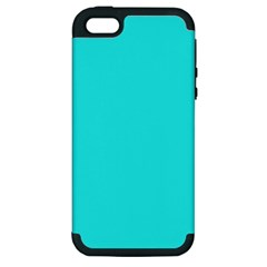 Neon Color   Brilliant Cyan Apple Iphone 5 Hardshell Case (pc+silicone) by tarastyle