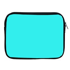 Neon Color   Brilliant Cyan Apple Ipad 2/3/4 Zipper Cases by tarastyle