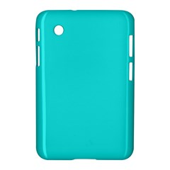 Neon Color   Brilliant Cyan Samsung Galaxy Tab 2 (7 ) P3100 Hardshell Case  by tarastyle