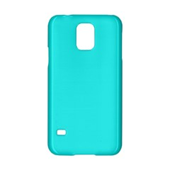 Neon Color   Brilliant Cyan Samsung Galaxy S5 Hardshell Case  by tarastyle