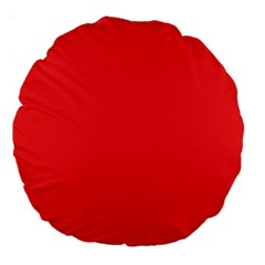Neon Color   Brilliant Red Large 18  Premium Round Cushions by tarastyle