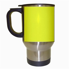 Neon Color   Brilliant Yellow Travel Mugs (white) by tarastyle