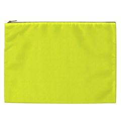Neon Color   Brilliant Yellow Cosmetic Bag (xxl)  by tarastyle
