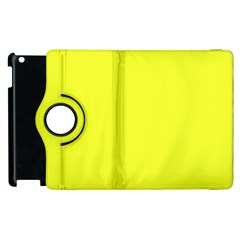 Neon Color   Brilliant Yellow Apple Ipad 3/4 Flip 360 Case by tarastyle