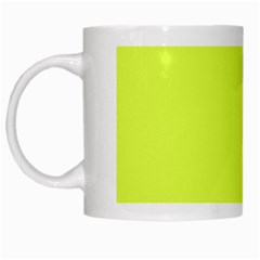 Neon Color   Light Brilliant Apple Green White Mugs by tarastyle