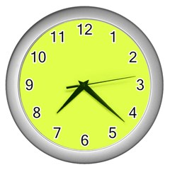 Neon Color   Light Brilliant Apple Green Wall Clocks (silver)  by tarastyle