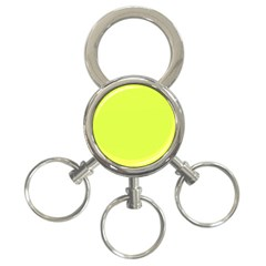 Neon Color   Light Brilliant Apple Green 3 Ring Key Chains by tarastyle