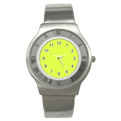 Neon Color   Light Brilliant Apple Green Stainless Steel Watch