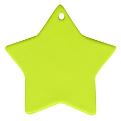 Neon Color   Light Brilliant Apple Green Star Ornament (two Sides) by tarastyle