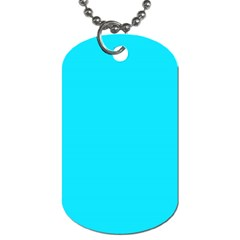 Neon Color   Light Brilliant Arctic Blue Dog Tag (one Side) by tarastyle