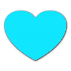 Neon Color   Light Brilliant Arctic Blue Heart Mousepads by tarastyle