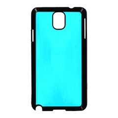 Neon Color   Light Brilliant Arctic Blue Samsung Galaxy Note 3 Neo Hardshell Case (black) by tarastyle