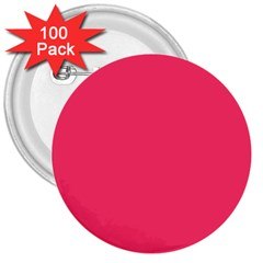 Neon Color   Light Brilliant Crimson 3  Buttons (100 Pack)  by tarastyle