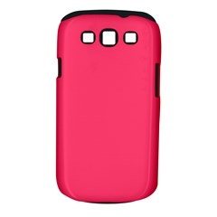 Neon Color   Light Brilliant Crimson Samsung Galaxy S Iii Classic Hardshell Case (pc+silicone) by tarastyle