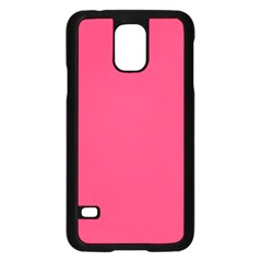 Neon Color   Light Brilliant Crimson Samsung Galaxy S5 Case (black) by tarastyle