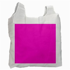 Neon Color   Light Brilliant Fuchsia Recycle Bag (one Side) by tarastyle