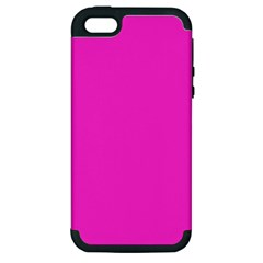 Neon Color   Light Brilliant Fuchsia Apple Iphone 5 Hardshell Case (pc+silicone) by tarastyle