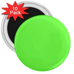 Neon Color   Light Brilliant Harlequin 3  Magnets (10 Pack)  by tarastyle