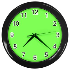 Neon Color   Light Brilliant Harlequin Wall Clocks (black) by tarastyle