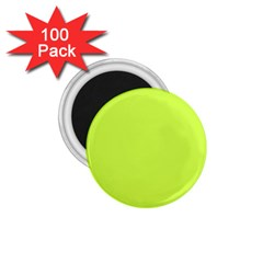 Neon Color   Light Brilliant Lime Green 1 75  Magnets (100 Pack)  by tarastyle