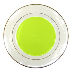 Neon Color   Light Brilliant Lime Green Porcelain Plates by tarastyle