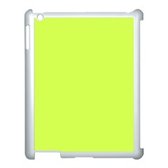 Neon Color   Light Brilliant Lime Green Apple Ipad 3/4 Case (white) by tarastyle