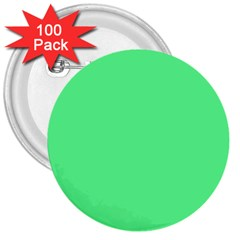 Neon Color   Light Brilliant Malachite Green 3  Buttons (100 Pack)  by tarastyle