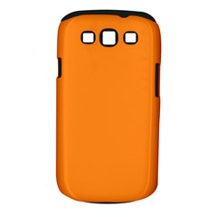Neon Color   Light Brilliant Orange Samsung Galaxy S Iii Classic Hardshell Case (pc+silicone) by tarastyle