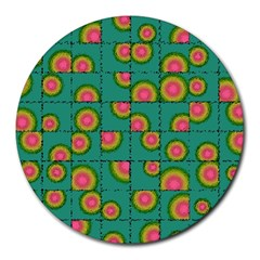 Tiled Circular Gradients Round Mousepads by linceazul