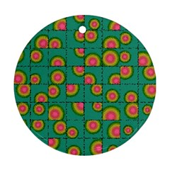 Tiled Circular Gradients Ornament (round) by linceazul