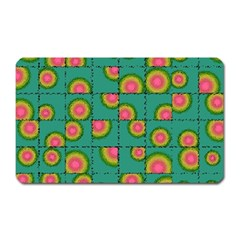 Tiled Circular Gradients Magnet (rectangular) by linceazul