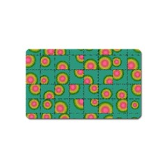 Tiled Circular Gradients Magnet (name Card) by linceazul