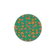 Tiled Circular Gradients Golf Ball Marker by linceazul