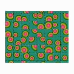 Tiled Circular Gradients Small Glasses Cloth (2 Side) by linceazul