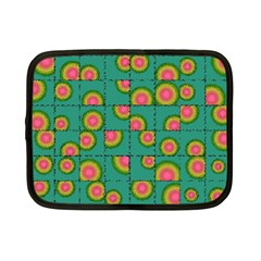 Tiled Circular Gradients Netbook Case (small)  by linceazul