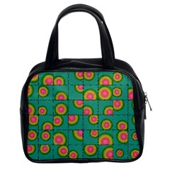 Tiled Circular Gradients Classic Handbags (2 Sides) by linceazul
