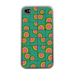 Tiled Circular Gradients Apple Iphone 4 Case (clear) by linceazul