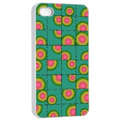Tiled Circular Gradients Apple Iphone 4/4s Seamless Case (white) by linceazul