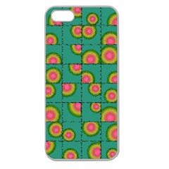 Tiled Circular Gradients Apple Seamless Iphone 5 Case (clear) by linceazul