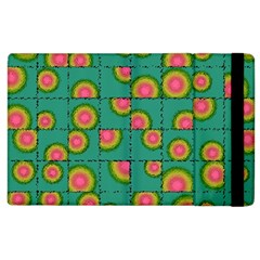 Tiled Circular Gradients Apple Ipad 2 Flip Case by linceazul
