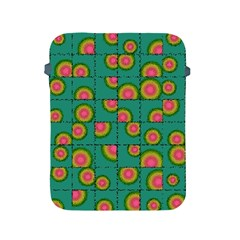 Tiled Circular Gradients Apple Ipad 2/3/4 Protective Soft Cases by linceazul