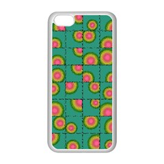 Tiled Circular Gradients Apple Iphone 5c Seamless Case (white) by linceazul