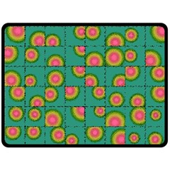 Tiled Circular Gradients Double Sided Fleece Blanket (large)  by linceazul