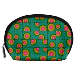 Tiled Circular Gradients Accessory Pouches (large)  by linceazul