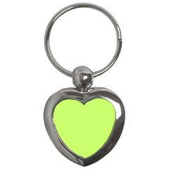 Neon Color   Light Brilliant Spring Bud Key Chains (heart)