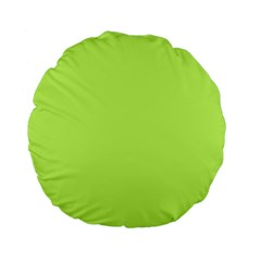 Neon Color   Light Brilliant Spring Bud Standard 15  Premium Flano Round Cushions by tarastyle