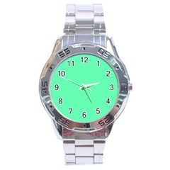 Neon Color   Light Brilliant Spring Green Stainless Steel Analogue Watch by tarastyle