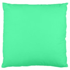 Neon Color   Light Brilliant Spring Green Large Cushion Case (two Sides) by tarastyle