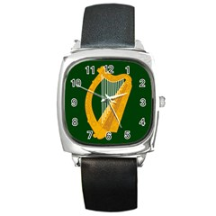 Flag Of Leinster Square Metal Watch by abbeyz71